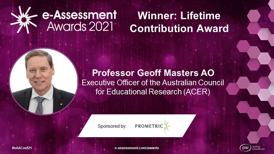 Winner 2021 e-Assessment Awards